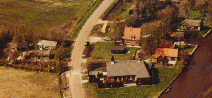 1980 - Luchtfoto Wetering West 3a centraal
